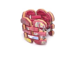 Round Cut Gem Tile Bracelet