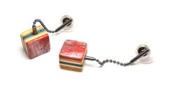 Cube Bauble Post Earrings