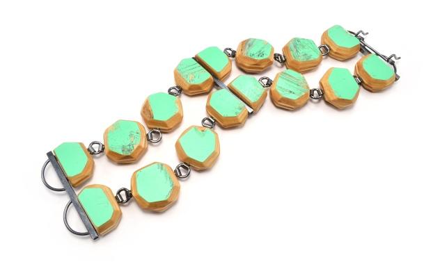 Round Gem Cut Double Strand Link Bracelet