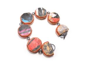 Round Cut Gem Link Bracelet