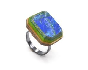 Cushion Cut Gem Solitaire Ring