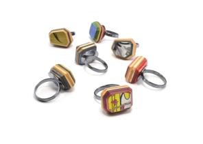 Gem Cut Solitaire Rings