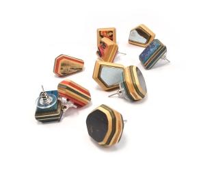 Gem Cut Solitaires Stud Earrings