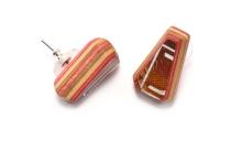 Gem Teardrop Cut Solitaire Post Earrings