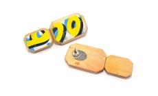 G-Flat Cushion Cut Stacker Post Earrings