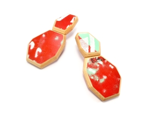 G-Flat Stack Post Earrings