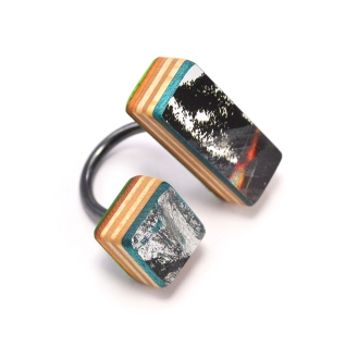 Line+Cube Combo Ring