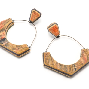 Large Gem Arc Hoop Dangles