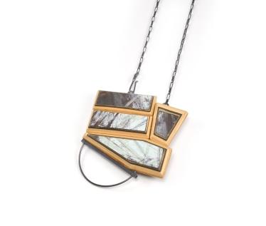 ViT:O8 Brooch Pendant | broken skateboards. sterling silver.