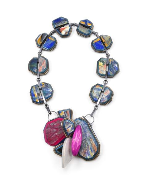 Rubble of Gems I | broken skateboards. maple hard wood. sterling silver. pigment.
