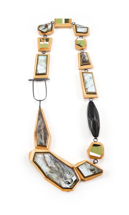 ViT:O2 Necklace | broken skateboards. african black wood. sterling silver.