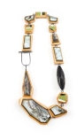 ViT:O2 Necklace   broken skateboards. african black wood. sterling silver.
